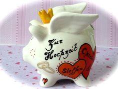 Sparschwein Nr. 18 Hochzeit von *M&M Bastelparadies* auf DaWanda.com