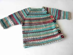 Puerperium Cardigan in Duo Plus Knitting For Kids, Baby Knitting Patterns, Baby Patterns, Knit Or Crochet, Crochet Baby, Wool Shop, Baby Kind, Baby Cardigan, Baby Costumes