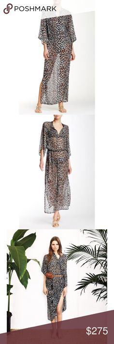 Tory Burch Reva Leopard Silk Caftan Gorgeous sheer caftan by Tory Burch in super stylish Reva Leopard print. Features tie waist, slit neck with button & side slits. 100% silk. Absolutely stunning & can be worn as a swim coverup or dress with slip underneath. It does not come with a slip. This is brand new with tags! LOW BALL OFFERS WILL BE DECLINED IMMEDIATELY. Tory Burch Dresses Maxi