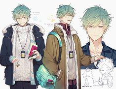 Handsome Anime Guys, Cute Anime Guys, Anime Boys, Anime Style, Takarai Rihito, Anime Boy Zeichnung, Mikuo, Anime Sketch, Boy Art