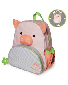 "Skip Hop Zoo Little Kid Backpack Pig - The perfectly sized preschool backpack for ""I can do it! Back To School Backpacks, Backpacks For Sale, Kids Backpacks, Preschool Backpack, Toddler Backpack, Mochila Skip Hop, Skip Hop Zoo, Animal Backpacks, School Accessories"