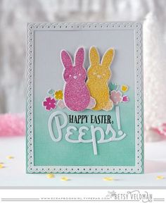 Easter Peeps Card by Betsy Veldman for Papertrey Ink (February 2016)