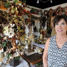 Janie Pillow's Ridgeland shop offers wreaths, garlands and centerpieces to buy or rent.