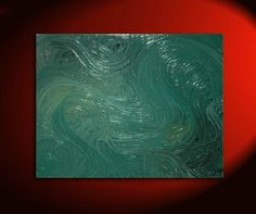 Large Abstract Painting Green Textured Modern Urban by NathalieVan, $335.00