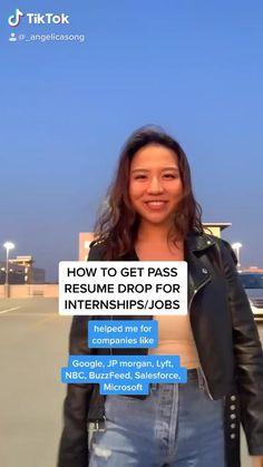 College Life Hacks, Life Hacks For School, School Study Tips, Student Jobs, Jobs For Students, Internship Resume, Job Interview Tips, Interview Questions, Job Help