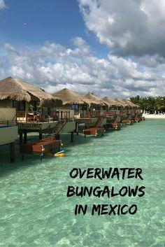 Overwater Bungalows in Mexico: El Dorado Maroma's Palafitos Vacation Places, Honeymoon Destinations, Dream Vacations, Vacation Spots, Places To Travel, Places To Visit, Honeymoon Ideas, Mexico Honeymoon, Romantic Vacations