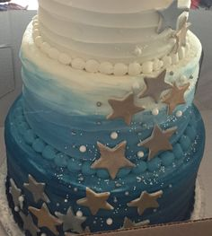 Baby shower for a Boy Twinkle Twinkle Little Star theme Cake