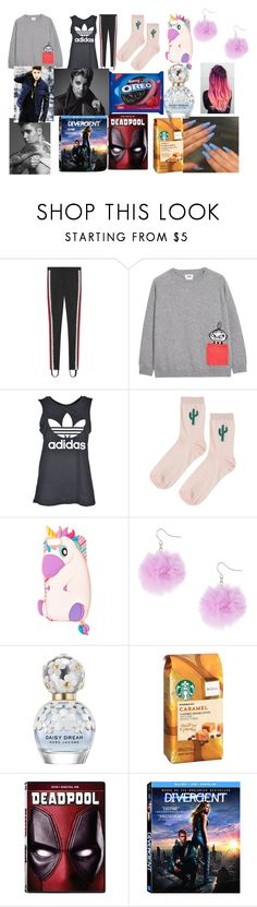 """""""Lazy day with Justin"""" by larryandtarillforeverr14 ❤ liked on Polyvore featuring Gucci, Chinti and Parker, adidas, Topshop, Marc Jacobs, Marvel and Justin Bieber"""