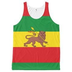 Old Ethiopian flag All-Over Print Tank Top Tank Tops
