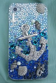 Ocean phone case - I am not a fan of sparkly iPhone cases.... but I would totally rock this one! Jk I LOVE SPARKLES