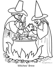 halloween pictures to colour halloween colouring pages halloween coloring pages - Pictures Of Witches To Colour In