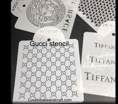 Guccistencil Guccicakes Guccicupcake Guccicookies LARGE GUCCI STENCIL Fabulous Large Gucci stencil Everyone love all of our designer brand decorating Cake Decorating Supplies, Cake Decorating Tutorials, Cake Stencil, Stencils, Gucci Cake, Handbag Cakes, Purse Cakes, Cupcake Mold, Cupcake Toppers