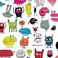 """More #monsters ! From my book """"I want a monster"""" #illustrationoftheday #illustration"""