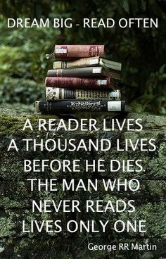 Dream big, read often Tea And Books, I Love Books, Good Books, Books To Read, My Books, Great Quotes, Funny Quotes, Inspirational Quotes, Life Quotes
