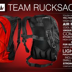 New #FX Team #Rucksack for your personal belongings.