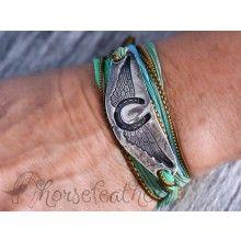 To heaven on Horseback horseshoe bracelet