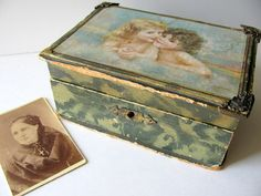 Vintage Jewelry Box with Angels by ADoseOfAlchemy on Etsy