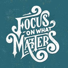 Focus on What Matters http://arcreactions.com/erven-planning/
