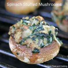 Sauteed Kale in Garlic and Butter Sauce with red peppers, onions and garlic cooked in chicken stock with a teaspoon of butter. Cooked Kale Recipes, Spinach Stuffed Mushrooms, Stuffed Peppers, How To Cook Kale, Sauteed Kale, Garlic Butter Sauce, Mushroom Recipes, Salmon Burgers, Appetizers
