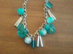 Blue Danglely Beaded Bracelet