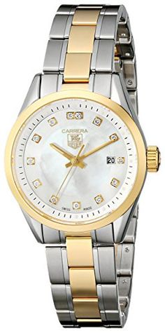 TAG Heuer Womens WV1450BD0797 Carrera Mother of Pearl Dial Watch -- For more information, visit image link.