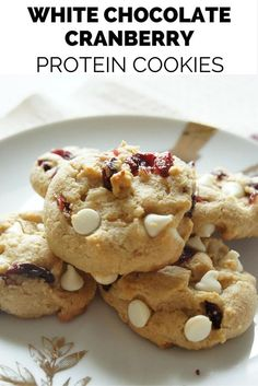 White Chocolate Cranberry Protein Cookies