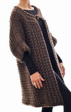 the Swing Coat (Tunisian Crochet) by Karen Clements (ravelry)