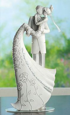 Shop for The Kiss Wedding Cake Topper. Complete your wedding cake with this fun yet sophisticated wedding cake topper from the Gina Freehill Language of Love collection which features the bride kissing the groom while being carried in his loving arms. Wedding Kiss, Wedding Groom, Bride Groom, Our Wedding, Dream Wedding, Garden Wedding, Wedding Venues, Wedding Sparklers, Wedding Rustic