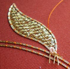 Threads Across the Web: Gold Work Good Goldwork embroidery blog