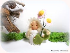 Gänseblümchen Blumenkinder Jahreszeitentisch von Susannelfes Blumenkinder  auf DaWanda.com