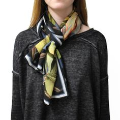 AUDUBON OBLONG SILK SCARF $125.00 The Audubon scarves are the second installment of our Audubon Series, a collection of 100% silk scarves with rolled edges designed by Sandy Stewart, Westphal Academic Associate Dean and Graphic Design Professor, and Roberta Gruber, Head of the Fashion, Product, and Design & Merchandising Department. The scarves were designed using the historical Audubon prints housed in the Academy of Natural Sciences of Drexel University.