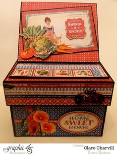 Amazing Home Sweet Home recipe box by Clare #graphic45