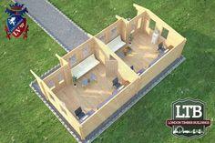London Timber Buildings Log Cabin Chiswick Range 9.8m x 4.5m CHI019 005