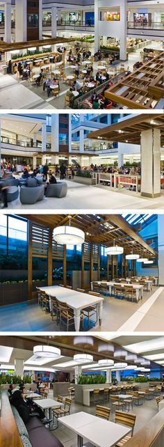 Food Court at The Promenade in Thornhill, ON - designed by GH+A (in collaboratio. - Food Court - Welcome Home Rooftop Restaurant, Restaurant Concept, Restaurant Design, Mall Design, Retail Design, Food Court Design, Retail Architecture, Bali, Outdoor Food