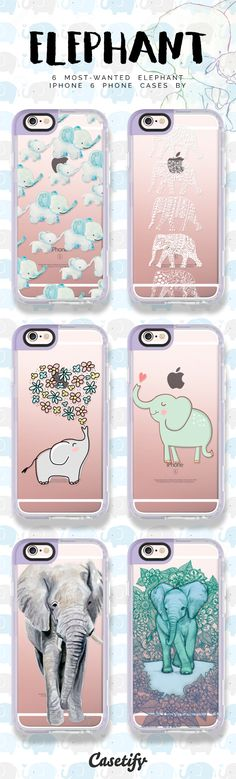 Top 6 elephant iPhone 6 protective phone case designs Click through to see more iPhone phone case designs >>> .