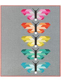 Pieced Lap Quilt & Throw Patterns - Frances Firefly Quilt Pattern