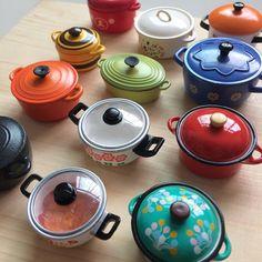 POTS~* Collection #rement #rements #rementthailand #rementtoy #rementjapan #rement_thailand #rementthai #rementcollection #mini #miniature #miniatures #miniaturefood #miniaturetoy #miniaturethailand #little #tiny #petit #kawaii #cute #kitchen #toy #toys #toythailand #toyphotogallery #toystagram #pot #pots