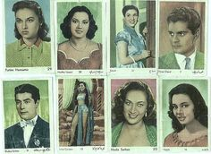 1960s Egyptian cinema stars, stamps