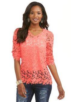 Cato Fashions Crochet Waterfall Vest-Plus #CatoFashions | Boho ...