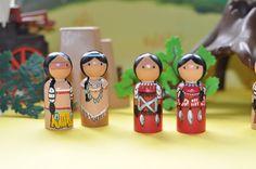PEG-Puppen Indianer Indianer Native Americans
