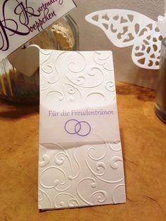 10x Taschentücher für Freudentränen Hochzeit TT63