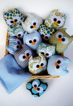 9 lovely blue owls or you can choose any color por LilyRoseCraft