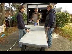How to Build Custom Concrete Countertops - YouTube