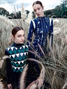 Models Amanda Fiore and Luiza Scandelari channel silhouettes and patterns styled by Flavia Lafer in 'Aos Pares'. Nicole Heiniger flashes the duo for L'Officiel Brazil April Beauty by Silvio Giorgio Fashion Shoot, Editorial Fashion, Fashion Beauty, Womens Fashion, Ladies Fashion, Fashion Photography Inspiration, Editorial Photography, Photography School, Professional Photography
