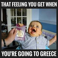 That feeling you get when you're going to Greece. Greek Memes, Funny Greek Quotes, Funny Quotes, Funny Memes, Jokes, Greek Sayings, It's Funny, Greece Quotes, Greek Beauty
