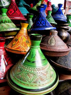 Day 250: Tajine clay pots, Marrakesh souq (Morocco)