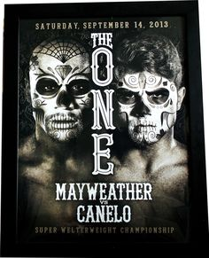 """Fight Museum Store - Floyd Mayweather vs Canelo Alvarez """"Day of the Dead"""" Official On Site Poster, $27.99 (http://www.fightmuseumlv.com/floyd-mayweather-vs-canelo-alvarez-day-of-the-dead-official-on-site-poster/)"""