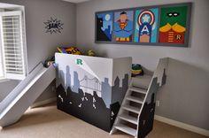 chambre enfant super héros