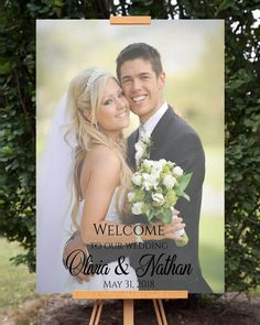 Photo wedding welcome sign featuring your favorite wedding or engagement photo. This is an printable file, no physical posters are to be shipped. Backdrop Decorations, Backdrops, Wedding Decorations, Welcome Poster, Baby Shower Welcome Sign, Welcome To Our Wedding, Floral Baby Shower, Bridal Shower, Wedding Signs