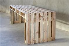 Make your own furniture using pallets... love this for our patio